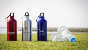 New branded water bottles at Abu Dhabi Golf Club, Saadiyat Beach Golf Club and Yas Links