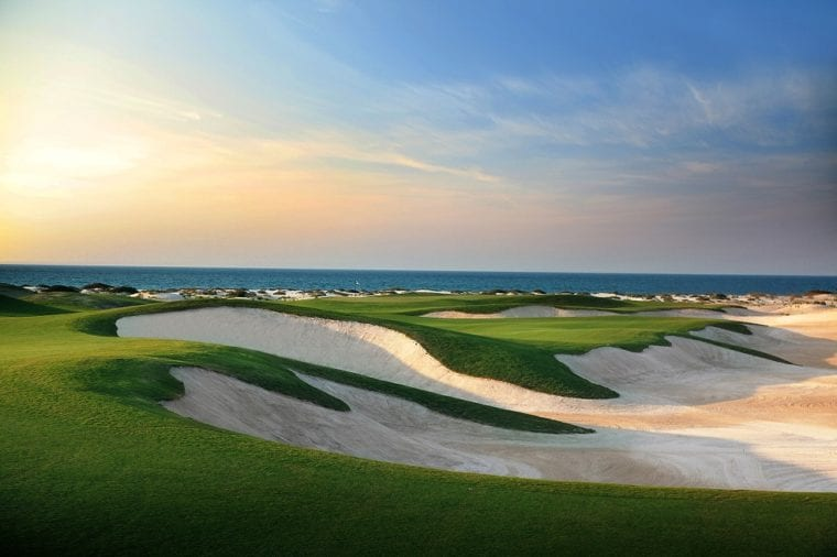 Stunning views across Saadiyat Beach Golf Club Abu Dhabi