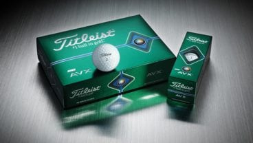 Titleist AVX golf ball dozen and sleeve-group