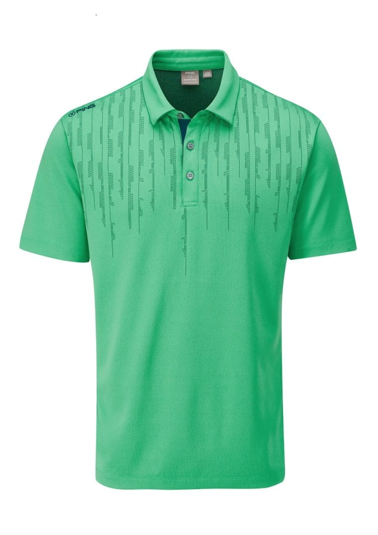 PING SS2020 Men's Performance Apparel Colection Carbon-polo-green sensor technology