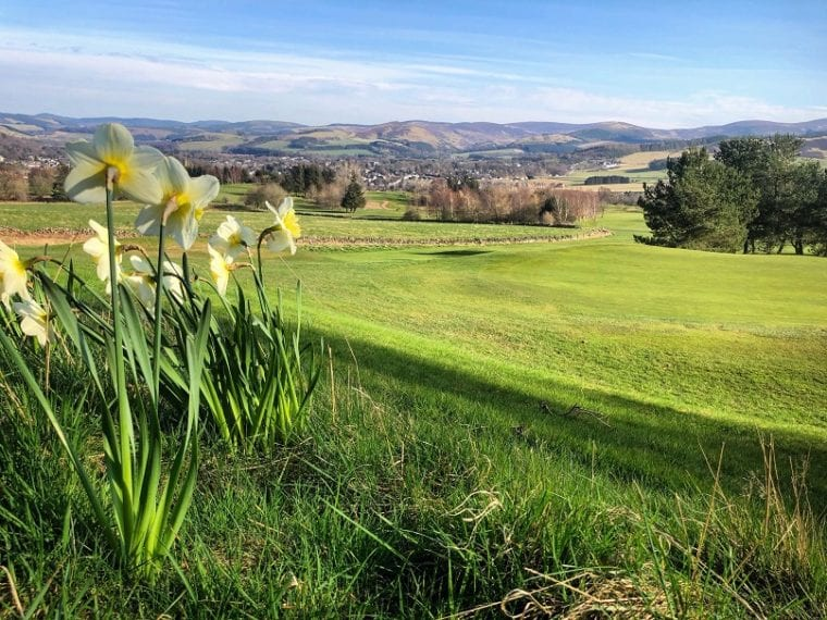 5th Green - April 2020 Peebles Golf Club coronavirus crisis
