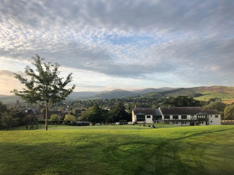 Peebles Golf Club Clubhouse Early Morning coronavirus crisis