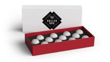 Wilson Staff Model golf balls in Baller Box