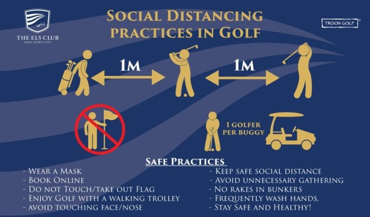 golf club management social distancing example
