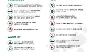 Portuguese Golf Federation regulations covid19 Algarve