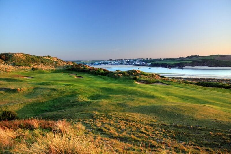 16th hole at th St Enodoc Golf Club