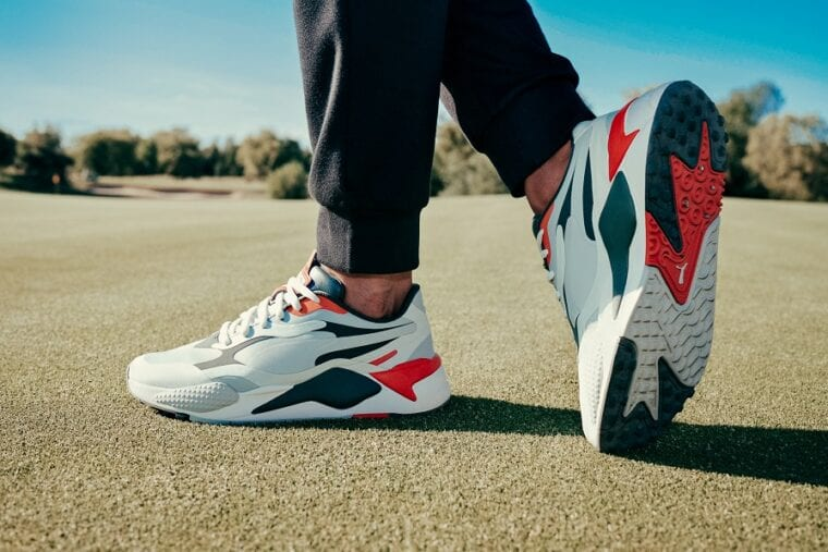 PUMA Golf RS-G golf shoes after a great swing