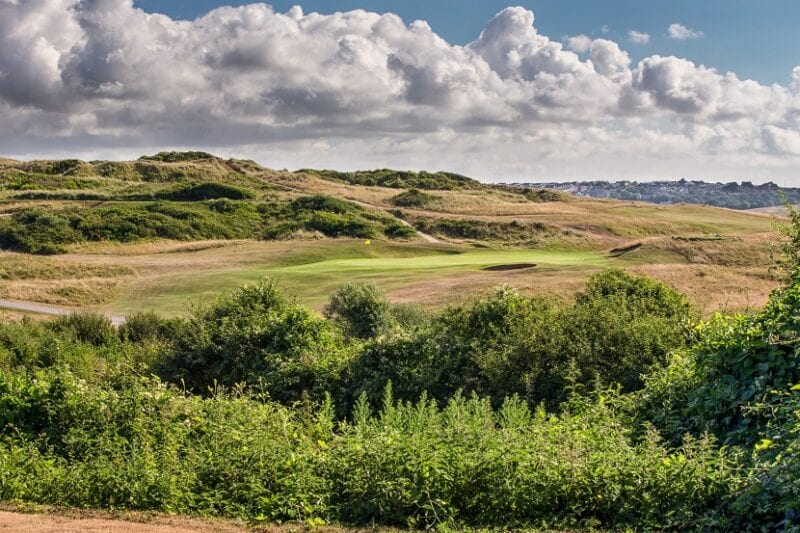 The 5th green at St Enodoc Golf Club from the tee (credit Stuart Morley)