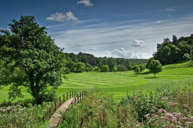 The Manor House Golf Club 8th hole with bridge