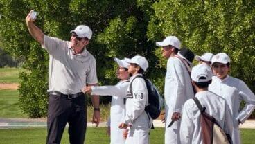 Sir Nick Faldo helps to introduce golf to local communities Faldo Series