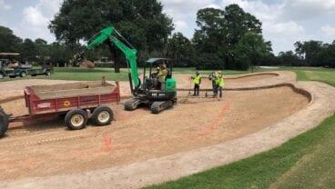 2020 U.S. Women's Open Champions Golf Club bunker preparations