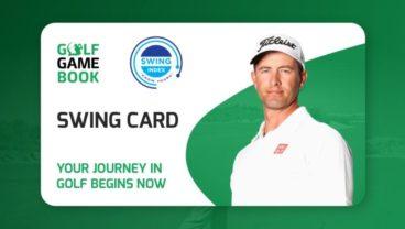 Golf GameBook Swing Card