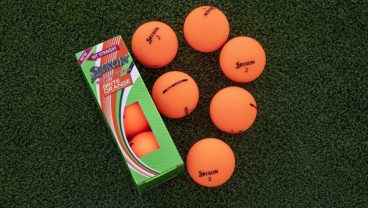 Srixon Soft Feel BRITE golf balls in brite orange color