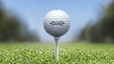 Titleist Tour Speed golf ball on the tee