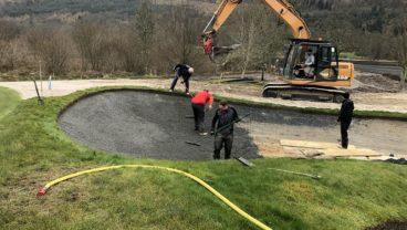 Loch Lomond Golf Club bunker under construction