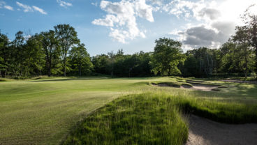 New Course at Les Bordes Golf Club at the edge of a bunker
