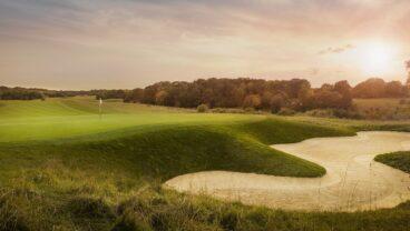 London Golf Club golf course bunker close look