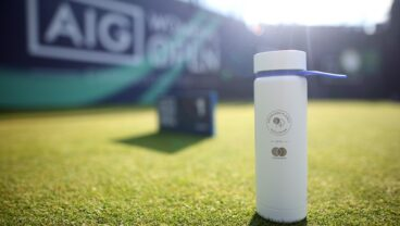2021 AIG Women's Open without single use plastic bottles Mastercard Adidas