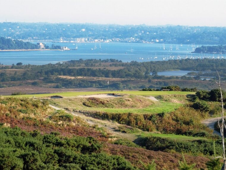Isle of Purbeck Golf Club and the bay-resized