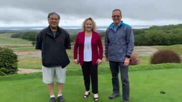 Isle of Purbeck Golf Club Owners David Suruki and Kathy Tatar and Tim Lobb-resized