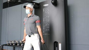 Technogym x Troon Abu Dhabi with a golfer